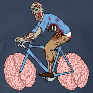 Zombie Riding Bike With Brain Wheels Tank Tops - Men's Premium T-Shirt
