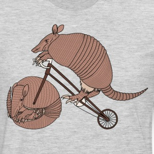 Armadillo Riding Bike With Armadillo Wheel  T-Shirts - Men's Premium Long Sleeve T-Shirt