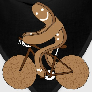 Gingerbread Man On Bike/ Gingersnap Cookie Wheels T-Shirts - Bandana