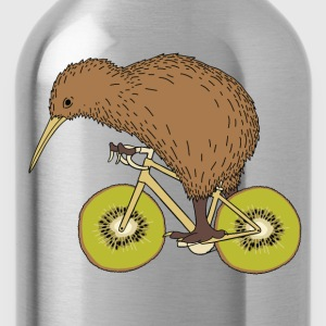 Kiwi Riding Bike With Kiwi Wheels T-Shirts - Water Bottle