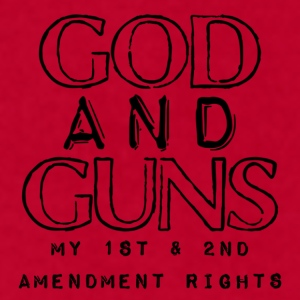 God and Guns Coffee Mug - Men's T-Shirt by American Apparel