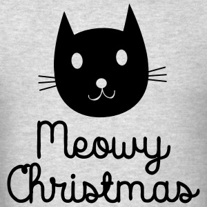 Meowy Christmas Long Sleeve Shirts - Men's T-Shirt