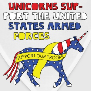United States armed forcees support unicorn Baby Bodysuits - Bandana
