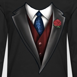 Tuxedo Tie Designs Tie blue T-Shirts - Men's Premium Long Sleeve T-Shirt