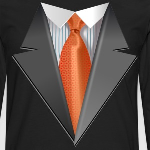 Tuxedo Tie Designs Tie orange T-Shirts - Men's Premium Long Sleeve T-Shirt