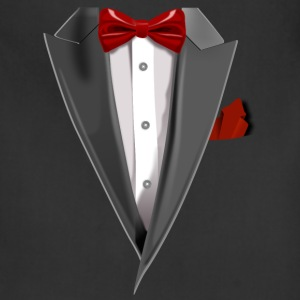 Tuxedo Tie Designs Tux red T-Shirts - Adjustable Apron