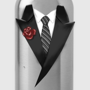 Tuxedo Tie Designs tie black T-Shirts - Water Bottle