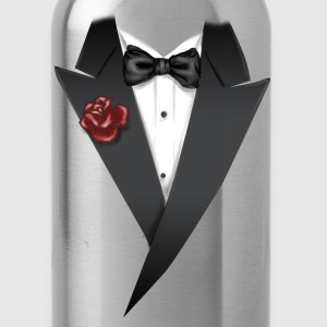 Tuxedo Tie Designs tux black T-Shirts - Water Bottle