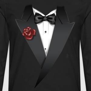 Tuxedo Tie Designs tux black T-Shirts - Men's Premium Long Sleeve T-Shirt