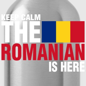 Keep Calm Fear The Romanian Is Here - Water Bottle
