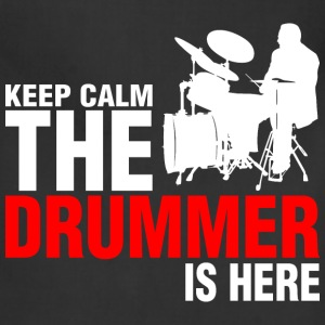 Keep Calm The Drummer Is Here - Adjustable Apron