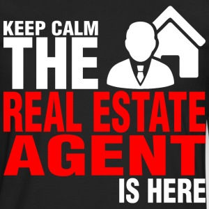 Keep Calm The Real Estate Agent Is Here - Men's Premium Long Sleeve T-Shirt