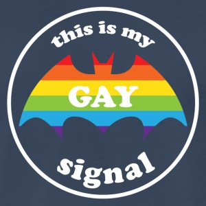 this is my gay signal LGBT Rainbow Pride Tank Tops - Men's Premium T-Shirt