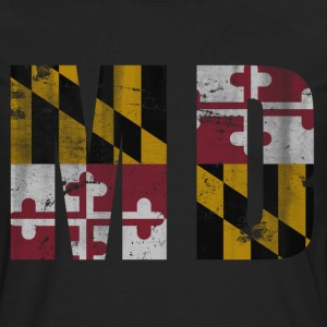 Vintage Maryland Flag MD Women's T-Shirts - Men's Premium Long Sleeve T-Shirt