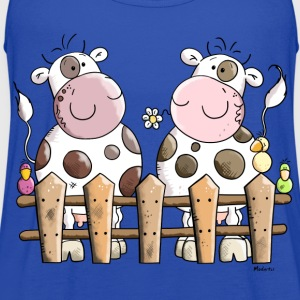 Two Happy Cows Kids' Shirts - Women's Flowy Tank Top by Bella