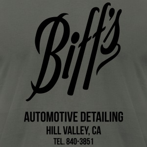 Biff's Automotive Detailing Shirt Hoodies - Men's T-Shirt by American Apparel
