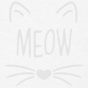 MEOW CAT FACE Baby Bodysuits - Men's T-Shirt