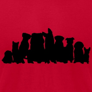 Dogs, Dog Tanks - Men's T-Shirt by American Apparel