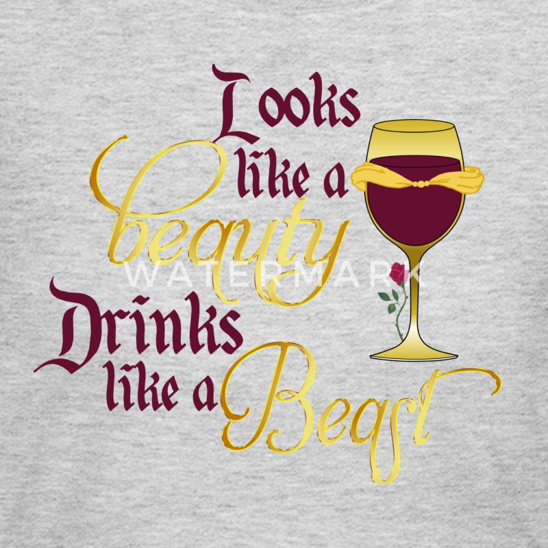 Looks like a beauty drinks like a beast - Women's Long Sleeve Jersey T-Shirt