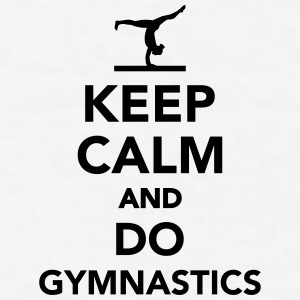 Keep calm and do Gymnastics Mugs & Drinkware - Men's T-Shirt