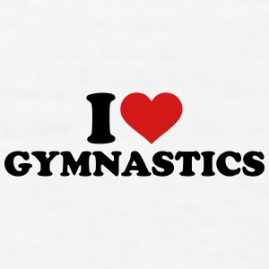 I love Gymnastics Mugs & Drinkware - Men's T-Shirt