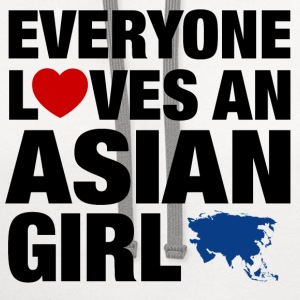 everyone loves an asian Women's T-Shirts - Contrast Hoodie