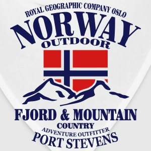 Fjord & Mountain - Norway Flag Tanks - Bandana