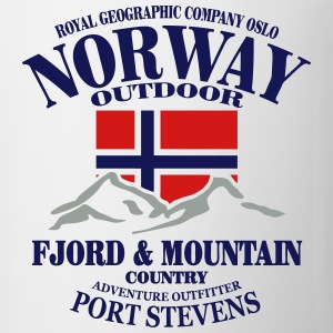Fjord & Mountain - Norway Flag T-Shirts - Coffee/Tea Mug