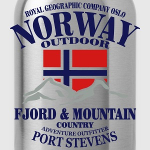 Fjord & Mountain - Norway Flag T-Shirts - Water Bottle