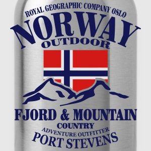 Fjord & Mountain - Norway Flag Hoodies - Water Bottle