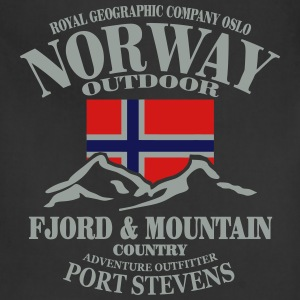 Fjord & Mountain - Norway Flag T-Shirts - Adjustable Apron