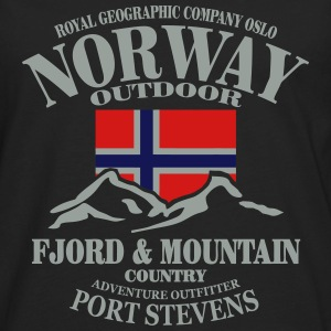 Fjord & Mountain - Norway Flag T-Shirts - Men's Premium Long Sleeve T-Shirt