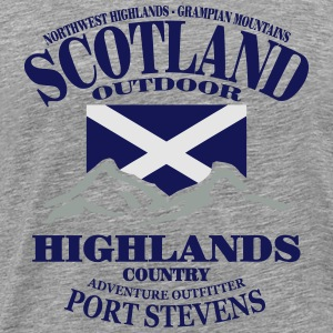 Highlands - Scotland Flag Hoodies - Men's Premium T-Shirt