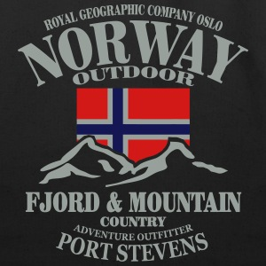 Fjord & Mountain - Norway Flag Long Sleeve Shirts - Eco-Friendly Cotton Tote