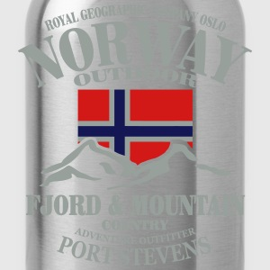 Fjord & Mountain - Norway Flag Long Sleeve Shirts - Water Bottle