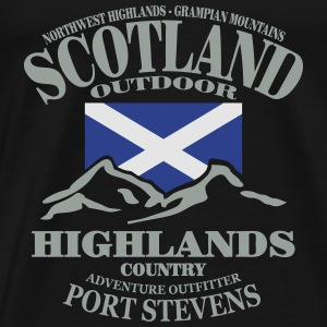 Highlands - Scotland Flag Tanks - Men's Premium T-Shirt