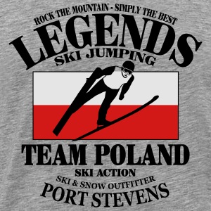 Poland Ski Jumping Hoodies - Men's Premium T-Shirt