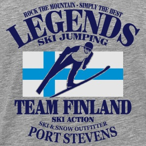 Finland Ski Jumping Long Sleeve Shirts - Men's Premium T-Shirt