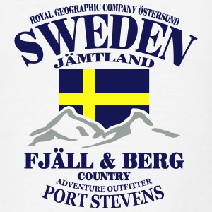 Fjäll & Berg - Sweden Flag Hoodies - Men's T-Shirt