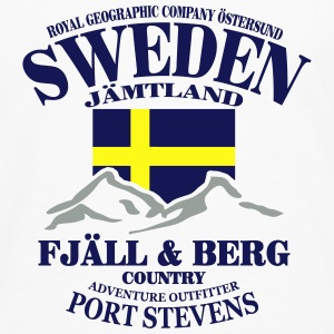 Fjäll & Berg - Sweden Flag Hoodies - Men's Premium Long Sleeve T-Shirt