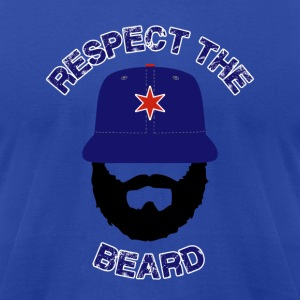 Respect The Beard Cubs Hoodies - Men's T-Shirt by American Apparel