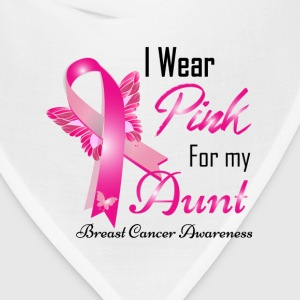 i wear pink for my aunt T-Shirts - Bandana