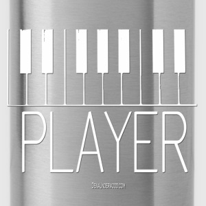 Player (Piano) white Hoodies - Water Bottle