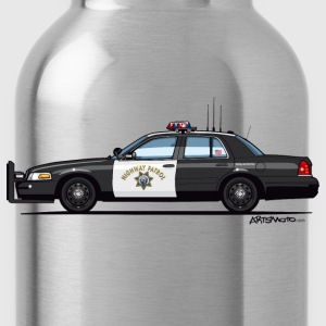 California Highway Patrol Ford Crown Victoria Poli - Water Bottle