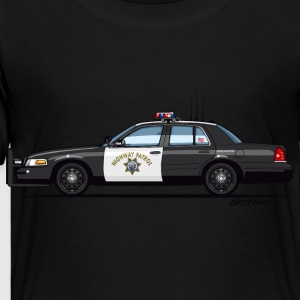 California Highway Patrol Ford Crown Victoria Poli - Toddler Premium T-Shirt