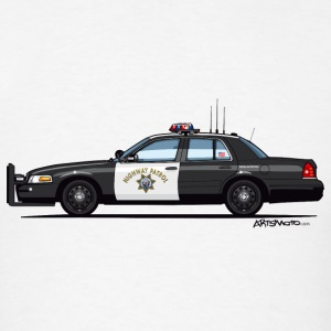 California Highway Patrol Ford Crown Victoria Poli - Men's T-Shirt