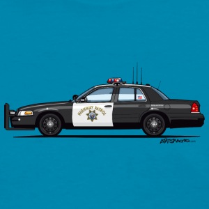 California Highway Patrol Ford Crown Victoria Poli - Women's T-Shirt