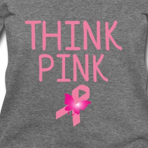 think pink Women's T-Shirts - Women's Wideneck Sweatshirt