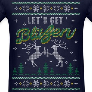 UGLY HOLIDAY SWEATER LET'S GET BLITZEN Long Sleeve - Men's T-Shirt