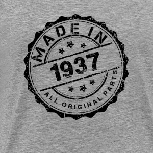 MADE IN 1937 ALL ORIGINAL PARTS Long Sleeve Shirts - Men's Premium T-Shirt